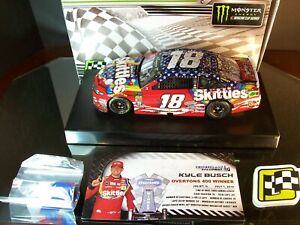 Kyle Busch #18 Skittles Patriotic Chicagoland Raced Win 2018 Toyota Camry 889