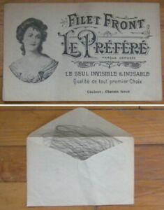 Hairnet/Hair Net SUPER 1920s French in Original Advertising Pouch w/Woman