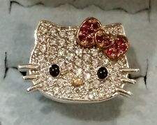 Hello Kitty For Diamonique Ring Sterling Silver Size 5 QVC Ruby