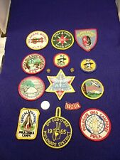 LOT OF 13 VTG BOY SCOUT PATCHES + 2 PINS, CIRCA 1965, B.P., SPECIAL TRAINING++++