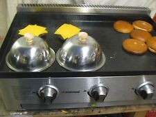 NEW BURGER CLOCHE STAINLESS STEEL CHEESE MELT DOME CATERING TRAILER LPG GRIDDLE