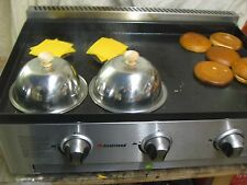 NEW BURGER CLOCHE KLOSH STAINLESS STEEL CHEESE MELT CATERING TRAILER LPG GRIDDLE
