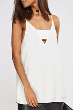 River Island Cami Top Vest in White Sizes 6 to 16