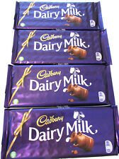 Cadbury 'DAIRY MILK CHOCOLATE'  4 x 360g (12.7oz) Bars. Imported from UK