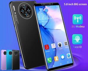 Smartphone M3 Plus 5.8 Inch Full Screen Unlocked Dual Sim Mobile Phone Face ID