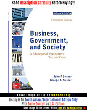 *FAST SHIP* - Business, Government, And Society, 13E by John F. St