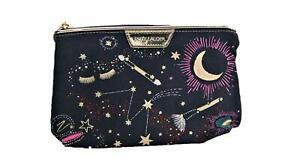 Estee Lauder Cosmetic Travel Zipper Bag Canvas Horoscope Blue Pink