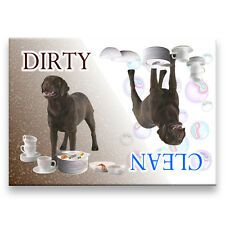 CHOCOLATE LABRADOR Clean Dirty DISHWASHER MAGNET Dog