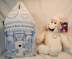 """Build A Bear Workshop Boorific Ghost Glow in the Dark Eyes and Heart 19"""" NWT"""