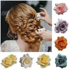 Hair Flowers Prom Small Hair Clip Bridal Bridesmaid Wedding Rose Corsage Brooch