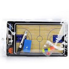 Portable Magnetic Basketball Coaching Board Training Tactics PVC Book Set+Marker