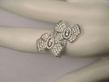 Stunning 18K White Gold Diamond Butterfly Designer Ring Band