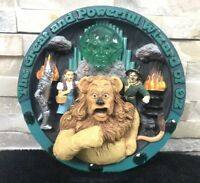 Rare The Wizard Of OZ 3D plate Statue Figurine Warner Bros COA