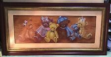 Teddy Bears Framed Oil Painting