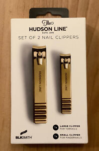 NEW Hudson Line 2 Piece Manicure Set of Bronze Nail Clippers Toes Fingers