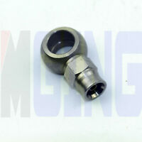 """1979-08 GM Stainless Braided Hose 10mm Banjo to 3//16 Brake Line Fitting 33/"""" Long"""