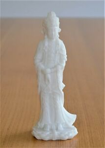 Hand Crafted Buddha White Marble Stone Statue Highly Detailed Ornament