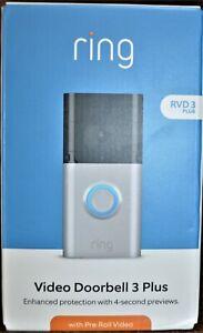 Ring Video Doorbell 3 Plus - Satin Nickel - RVD3 - NEW