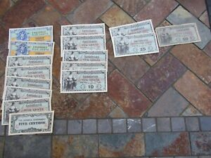 Vintage Lot 1940's Military Payment Certificates