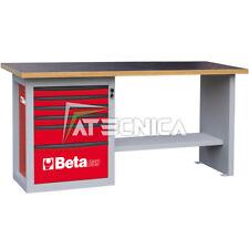 Banco da lavoro con cassettiera 6 tiretti Beta C59A Rosso piano in legno 1500Kg