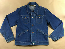 vintage WRANGLER mens 70's MADE USA 4 pocket button front DENIM jacket size 44 L