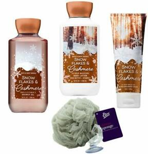 Snowflakes & Cashmere Gift Set with Loofah