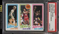 1980 Topps Basketball Larry Bird & Magic Johnson ROOKIE RC PSA 5 EX (PWCC)