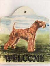 Welsh Terrier Dog Wood Welcome Sign Animal Artworks Dee Craig