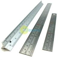 """6"""", 12"""" & Scale Ruler Set Small Large Measure Rule Metal Stainless Steel 30cm"""