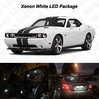 10x White LED Interior Bulbs License Plate Lights For 2008-2017 2018 Challenger