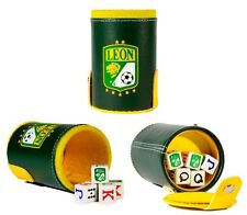 Club Leon Cubilete Poker Dice Shaker Cup Game Futbol Soccer Party Man Cave