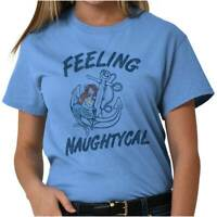 Feeling Nautical Mermaid Naughty Beach Ocean T-Shirts T Shirts Tees For Womens