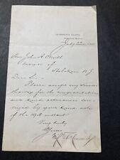 WS Hancock Civil War Gettysburg MG 1880 Presidential Candidate Letter (ALS)