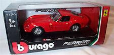 Ferrari 250 gto rouge échelle 1-24 burago modèle new in box