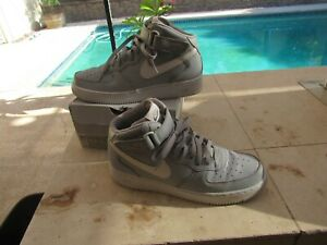 Nike Air Force 1 Mid '07 Men Sz 11.5 Wolf Grey White Casual AF1 Rare 315123-033