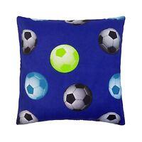 Rempli Football Bleu Noir Vert Coton Mélange Artisanal GB 45.7cm - 45CM Coussin