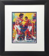 "LeRoy Neiman ""Duran-Leonard III 1989"" CUSTOM FRAMED Art Print Sugar Ray Leonard"