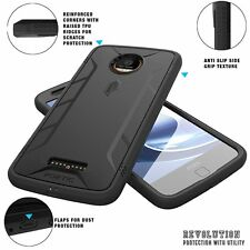 For Moto Z /Moto Z Droid Edition Case Black POETIC【Revolution】Rugged Shell Cover