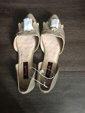 Betseyville Inked Tassel DOrsay Gold Metallic Pointy Toe Vegan Leather Flat Shoe