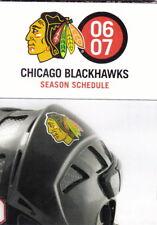 2006-07 CHICAGO BLACKHAWKS HOCKEY POCKET SCHEDULE - BUD LIGHT