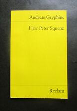 Andreas Gryphius: Herr Peter Squenz (Reclam Universalbibliothek)
