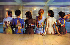 PINK FLOYD Women Body Art on Back- Extra Large  Canvas Print Poster A1