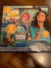 Disney's Moana Wooden Bangles Bracelet Activity Set Craft Hobby Jewelry Kit