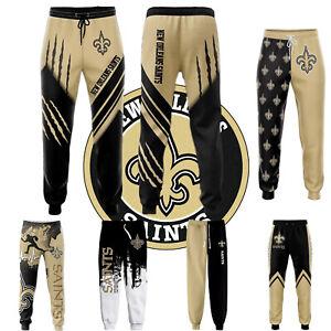 New Orleans Saints Men's Sweatpants Casual Trousers Jogging Training Pants S-5XL