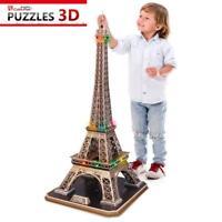 Puzzle 82 pièces Puzzle 3D avec LED - La Tour Eiffel - Difficulté... (45646)