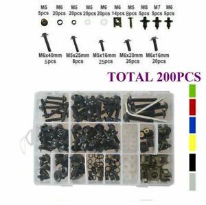 200x Fairing Body Bolts Kit Screws Clip For Yamaha FZR1000 1987-1995