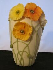"Ibis & Orchid ""Icelandic Poppies""  Vase  9.5"" in"