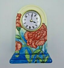 Old Tupton Ware Clock Carnation Flower Table Mantel Shelf 7998