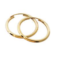 PAAR 585 gelb Gold Creolen Ohrringe Ohrschmuck rund Goldohrringe 30mm 1854