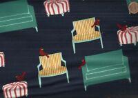 Holiday sweet tweets red birds furniture Kaufman fabric